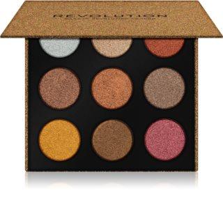 Makeup Revolution Euphoric Foil paletka očních stínů