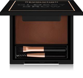Makeup Revolution Glossy Brow Bryn voks med børste