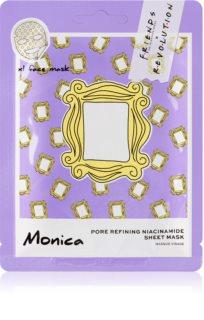 Makeup Revolution X Friends Monica тканинна маска для звуження пор