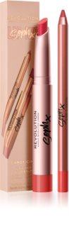 Makeup Revolution Soph X Lip Kit lūpų kontūro pieštukas su balzamu