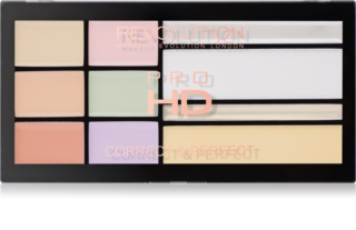 Makeup Revolution Pro HD Correct & Perfect Corrector Palette  met Highlighter