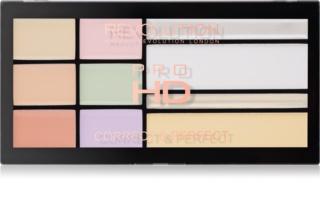 Makeup Revolution Pro HD Correct & Perfect palette de correcteurs avec highlighter