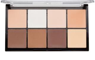 Makeup Revolution Ultra Pro HD Light Medium Puder-Palette für die Gesichtskonturen