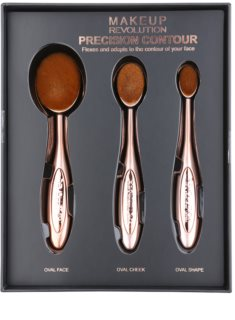 Makeup Revolution Pro Precision Brush set perii pentru contur