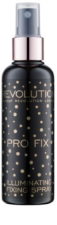 Makeup Revolution Pro Fix spray de fijacion y briilo