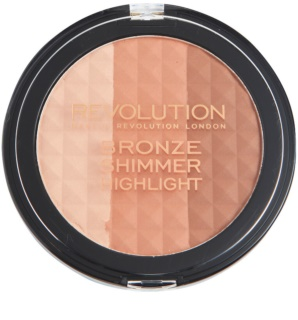 Makeup Revolution Ultra Bronze Shimmer Highlight Bronzing Illuminating Powder