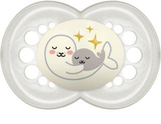 MAM Night Latex 6m+ smoczek White Seal