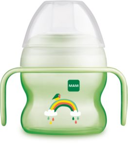 MAM Starter Cup training cup with handles 4m+ Green