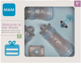 MAM Welcome to the World Gift Set подарунковий набір для малюків до року Blue
