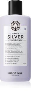 Maria Nila Sheer Silver Feuchtigkeit spendender Conditioner zum Neutralisieren von Gelbstich