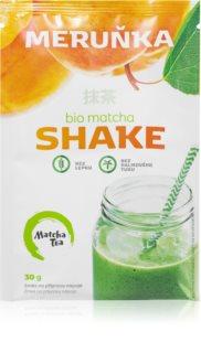Matcha Tea Shake BIO prášek na přípravu nápoje se zeleným čajem příchuť apricot