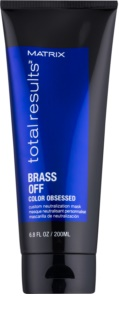 Matrix Total Results Brass Off maschera neutralizzante naturale per capelli decolorati