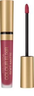 Max Factor Colour Elixir Soft Matte Långvarig flytande läppstift