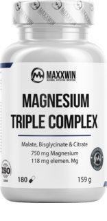 Maxxwin MAGNESIUM TRIPLE COMPLEX VEGAN doplněk stravy  s vysokým obsahem hořčíku