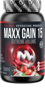 Maxxwin MAXX GAIN 15 jahoda podpora růstu svalů příchuť strawberry