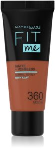 Maybelline Fit Me! Matte+Poreless pórusösszehúzó és mattító alapozó normál és olajos bőrre