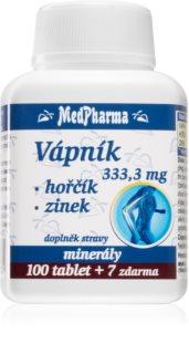 MedPharma Vápník + hořčík + zinek doplněk stravy  pro krásné vlasy, pleť a nehty