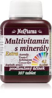 MedPharma Multivitamin s minerály + extra C multivitamin s prodlouženým účinkem