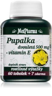 MedPharma Pupalka dvouletá  500 mg + vitamin E doplněk stravy pro krásné vlasy, nehty a pokožku