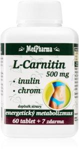 MedPharma L-Carnitin 500mg + Inulin + Chrom doplněk stravy pro podporu energetického metabolismu