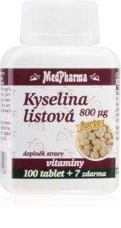 MedPharma Kyselina listová 800 μg výživa v těhotenství, metabolismus aminokyselin