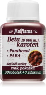 MedPharma Beta karoten  10000 m.j.Pant. + PABA  krásná a zdravá pokožka