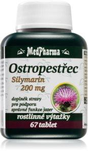 MedPharma Ostropestřec silymarin 200 mg doplněk stravy pro detoxikaci a regeneraci jater