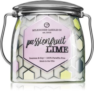 Milkhouse Candle Co. Creamery Passionfruit Lime scented candle Butter Jar
