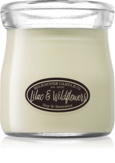 Milkhouse Candle Co. Creamery Lilac & Wildflowers mirisna svijeća Cream Jar