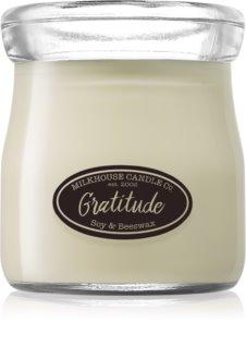 Milkhouse Candle Co. Creamery Gratitude vela perfumada Cream Jar