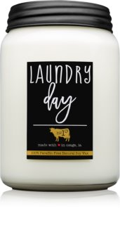 Milkhouse Candle Co. Farmhouse Laundry Day bougie parfumée Mason Jar