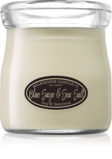 Milkhouse Candle Co. Creamery Blue Sage & Sea Salt illatos gyertya  Cream Jar