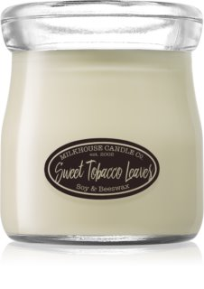 Milkhouse Candle Co. Creamery Sweet Tobacco Leaves illatos gyertya  Cream Jar