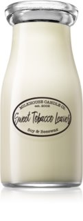 Milkhouse Candle Co. Creamery Sweet Tobacco Leaves illatos gyertya  Milkbottle