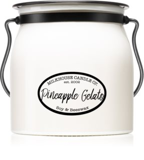 Milkhouse Candle Co. Creamery Pineapple Gelato illatos gyertya  Butter Jar