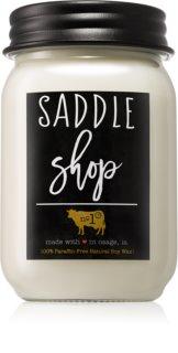 Milkhouse Candle Co. Farmhouse Saddle Shop candela profumata Mason Jar