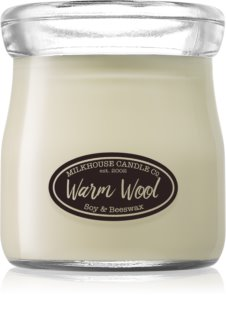 Milkhouse Candle Co. Creamery Warm Wool illatos gyertya  Cream Jar