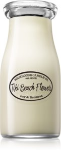 Milkhouse Candle Co. Creamery Tiki Beach Flower candela profumata Milkbottle