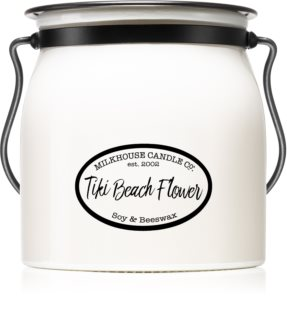 Milkhouse Candle Co. Creamery Tiki Beach Flower bougie parfumée Butter Jar