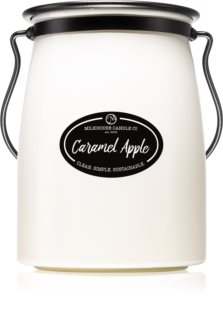 Milkhouse Candle Co. Creamery Caramel Apple scented candle Butter Jar