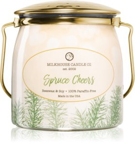 Milkhouse Candle Co. Creamery Spruce Cheers αρωματικό κερί Butter Jar