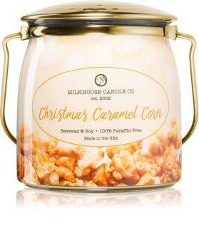Milkhouse Candle Co. Creamery Christmas Caramel Corn aроматична свічка Butter Jar