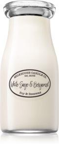 Milkhouse Candle Co. Creamery White Sage & Bergamot vela perfumada Milkbottle