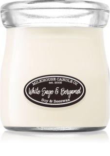 Milkhouse Candle Co. Creamery White Sage & Bergamot bougie parfumée Cream Jar