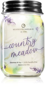 Milkhouse Candle Co. Farmhouse Country Meadow vela perfumada Mason Jar