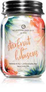 Milkhouse Candle Co. Farmhouse Starfruit Hibiscus duftkerze  Mason Jar