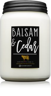 Milkhouse Candle Co. Farmhouse Balsam & Cedar illatos gyertya