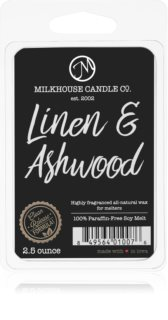 Milkhouse Candle Co. Creamery Linen & Ashwood vosk do aromalampy