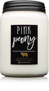 Milkhouse Candle Co. Farmhouse Pink Peony lumânare parfumată