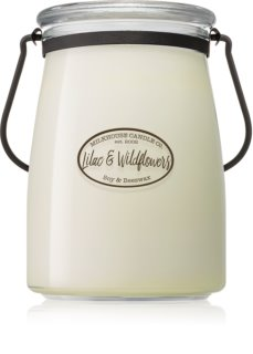 Milkhouse Candle Co. Creamery Lilac & Wildflowers vela perfumada Butter Jar